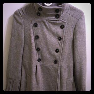 Zara Light Grey Wool Coat